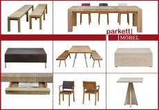 Individuelles Wohnen mit Möbel aus Parkett