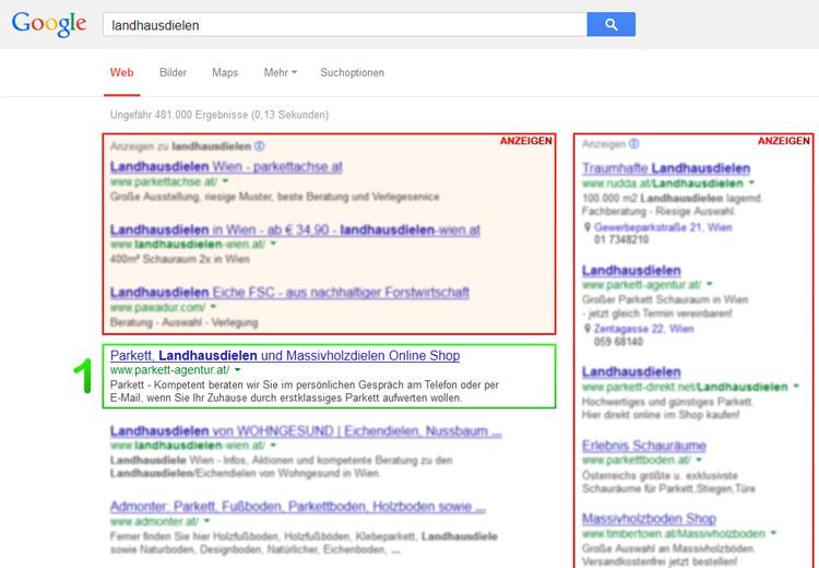 Landhausdielen in Google