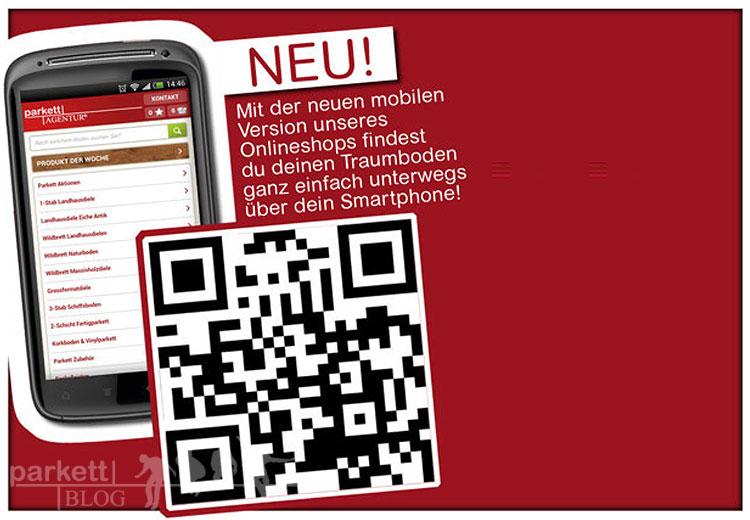 Parkett Online Shop jetzt auch für Smartphones verfügbar
