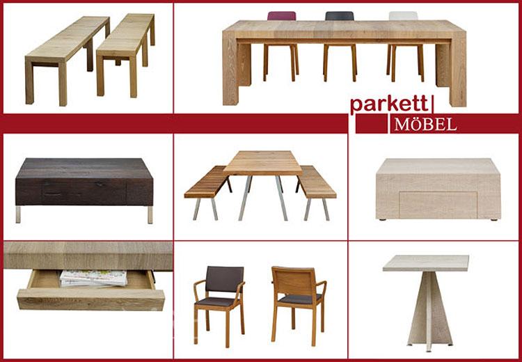 Möbel aus Parkett Tische